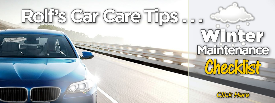 Rolf's Winter Car Care Tips